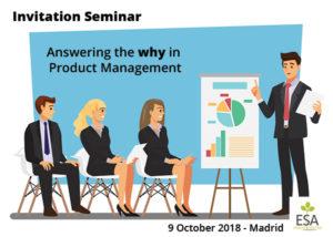 Invitation 9 October, Seminar ESA, Madrid  –  Free breakfast included!
